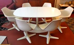 tulip table and chairs. Mid Century Expanding Burke Tulip Table Chairs Vestigemodern And