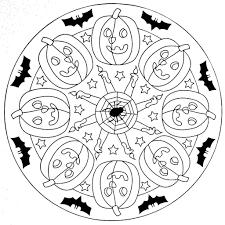 Mandala Coloring Page Halloween By Moldovancsaba