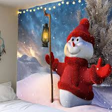 outfits taking lamp christmas snowman patterned wall art tapestry on christmas wall art tapestry with colorful w59 inch l51 inch taking lamp christmas snowman patterned