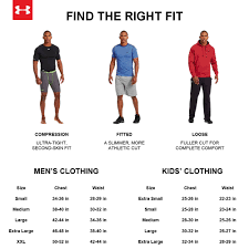 Under Armour Sweater Size Chart Under Armour Size Chart Tennisnuts Com