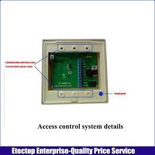 125khz rfid id keyfobs one door access control machine kit 180kg electric strike lock