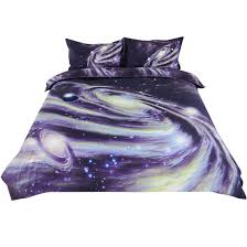 bedding duvet cover cover set purple starry pattern double size 79 x 91