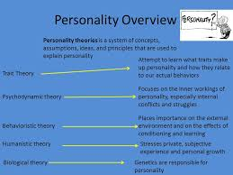 personality theories perspectives on personality 1 students are able to evaluate