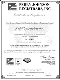 Us Nuclear Corp Unit Overhoff Tech Receives Iso 9001 Certification