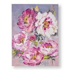 chelsea blooms printed canvas wall art 104013 the home depot on pink rose canvas wall art with graham brown 31 in x 24 in chelsea blooms printed canvas wall