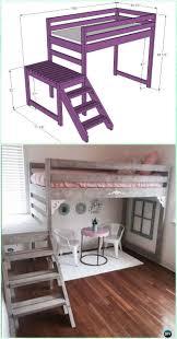 Building A Loft Bed Best 25 Bunk Bed Plans Ideas On Pinterest Boy Bunk Beds Bunk