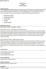 Modern Design Waitress Resume Example Resume Example Pinterest - sample  waiter resume