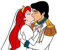 Small Picture Ariel and Prince Erics Wedding Kiss Ariel and Prince Eric