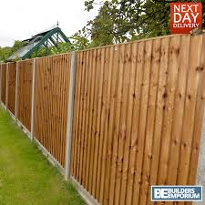 wooden garden close board fence panel feather edge