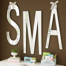 attractive letters for wall decor new trends mirrored nursery uk adhesive black decoration block
