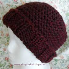 Easy Knit Hat Pattern Straight Needles