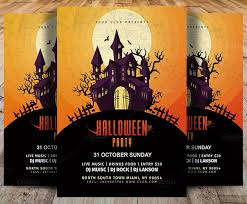 Party Flyer Interesting 44 Best Halloween PSD Party Flyer Templates 44