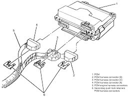 repair guides electronic engine controls engine powertrain 2 view of the pcm electrical connectors 1994 3 1l shown