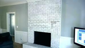 white wash painting brick fireplace fireplace