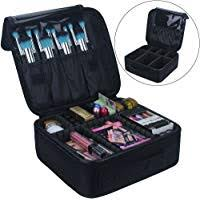 travel makeup train case makeup cosmetic case organizer portable artist storage bag 10 3 with