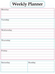 Homework Agenda Templates Weekly Planner Page June 2016 Pinterest Weekly Planner