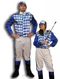 jockey size jockey silks blue and white costume by caufields jockey silks blue