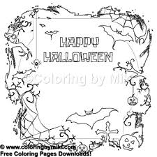 Halloween Spooky Coloring Page 1245 Coloring By Miki