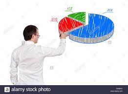 Man Drawing Pie Chart Stock Photo 80722946 Alamy