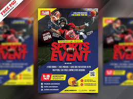 Event Flyers Free Football Event Flyer Template Psd Psdfreebies Com