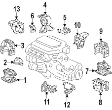parts com® honda front mount partnumber 50830sfy023 2005 honda odyssey touring v6 3 5 liter gas mounts