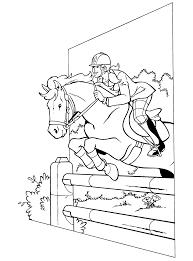 Kleurplaten Paradijs Kleurplaat Hedwig Springt Met Haar Paard Over