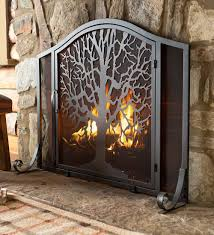outdoor fireplace screens best of tree of life fire screen with door the tree of life