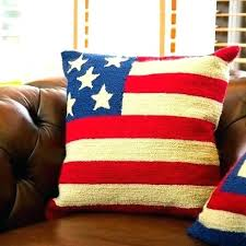 flag outdoor pillows handmade hooked patriotic pillow cover home ideas burlap bedrooms