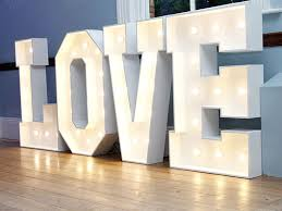 tourgo giant waterproof diy led neon love light up letters for wedding party decoration