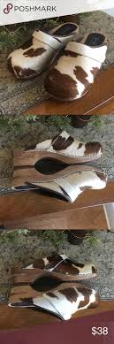 Sanita Shoe Size Conversion Chart Sanita Brown Cow Print Pony Hair Clogs 8 5 Sanita Brown Cow