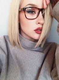 i want her hair color lip color eye makeup gles and sweater