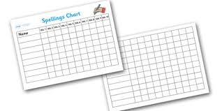 Class Charts Free Free Class Spelling Record Wall Charts General Term