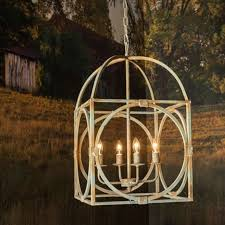 metal birdcage chandelier