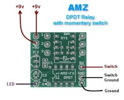 amz dpdt relay switch Dpdt Momentary Switch Schematic the amz dpdt relay pcb is a small (1\