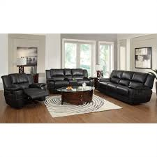 piece leather reclining sofa set