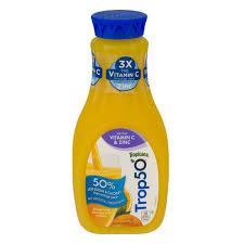 tropicana trop50 no pulp vitamin c and zinc orange juice 59 0 fl oz prestofresh grocery delivery