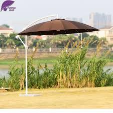 circular furniture. purple leaf patio umbrella offset fiberglass crank 9ft diameter circular brown outdoor garden furniture e