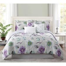 this review is from studio 17 mariana lavender grey 7 piece full queen comforter set