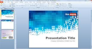 Powerpoint Designs Free Download Free Pixels Blue Powerpoint Template
