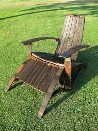furniture made from barrels. Wooden Adirondack Chairs And Ottoman Made Out Whiskey Barrels Furniture From P
