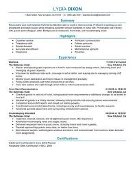 Resume Model For Experience Candidate Crew Member Resume Sample No Experience Resumes Livecareer