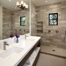 luxury master bathrooms. Example Of A Large Tuscan Master Gray Tile And Stone Porcelain Floor Alcove Shower Design Luxury Bathrooms