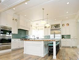 Green Tile Backsplash Kitchen Tile Kitchen Backsplash Ideas With White Cabinets Home