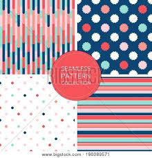Pattern Collection Inspiration Vector Seamless Pattern Collection Fashion Background Soft Pink