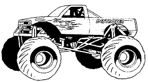 Monster Truck Printable Coloring Pages - FunyColoring