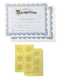 Certificate Paper 48 Certificate Of Recognition Award Certificates With 48 Excellence Gold Foil Seal Stickers For Student Teacher Employee