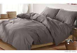 linen home home washed cotton duvet cover set dark grey for new residence dark gray duvet cover plan