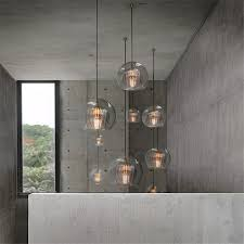 Kitchen Table Light Fixture Us 92 4 30 Off Postmodern Designer Double Bubble Glass Pendant Lights For Restaurant Kitchen Dining Table Indoor Lighting Fixture Hanging Lamp On