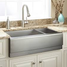 33 executive zero radius 70 30 offset double bowl stainless steel farmhouse farmhouse sink kitchenfarm