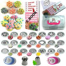50 Pcs Russian Piping Tips Set With Storage Case 21 Numbered Easy To Use Icing Nozzles Pattern Chart E Book User Guide Leaf Ball Tip 2 Coupler 25
